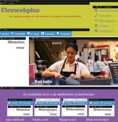 Flexweb design mode voor website ontwerper